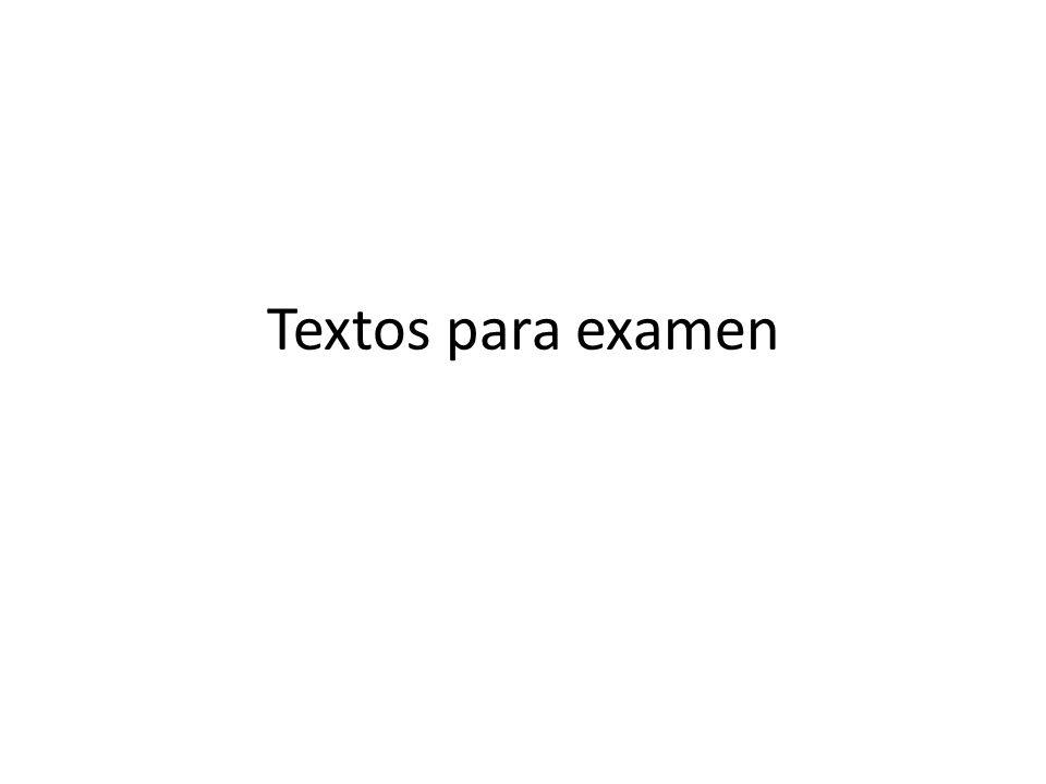 Textos para examen