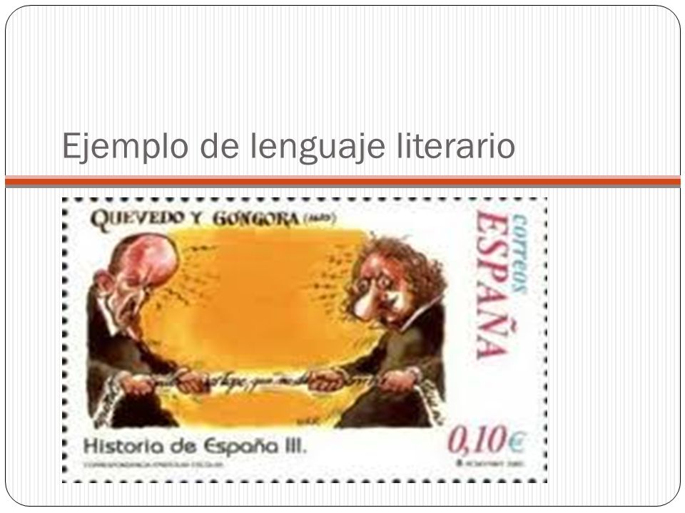 Ejemplo de lenguaje literario