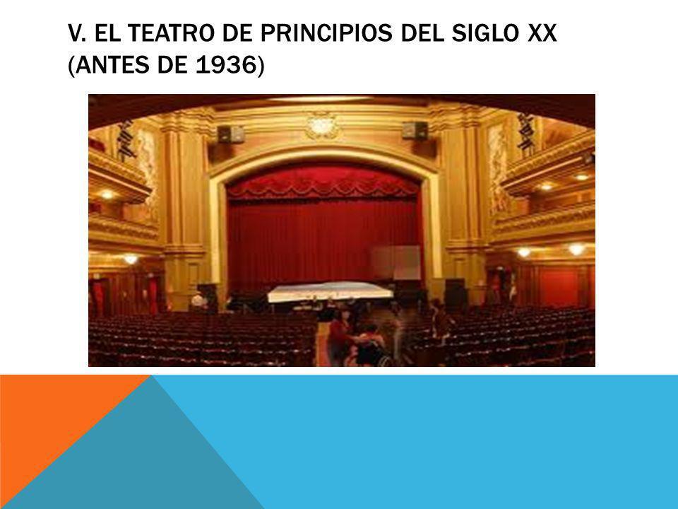 V. EL TEATRO DE PRINCIPIOS DEL SIGLO XX (ANTES DE 1936)