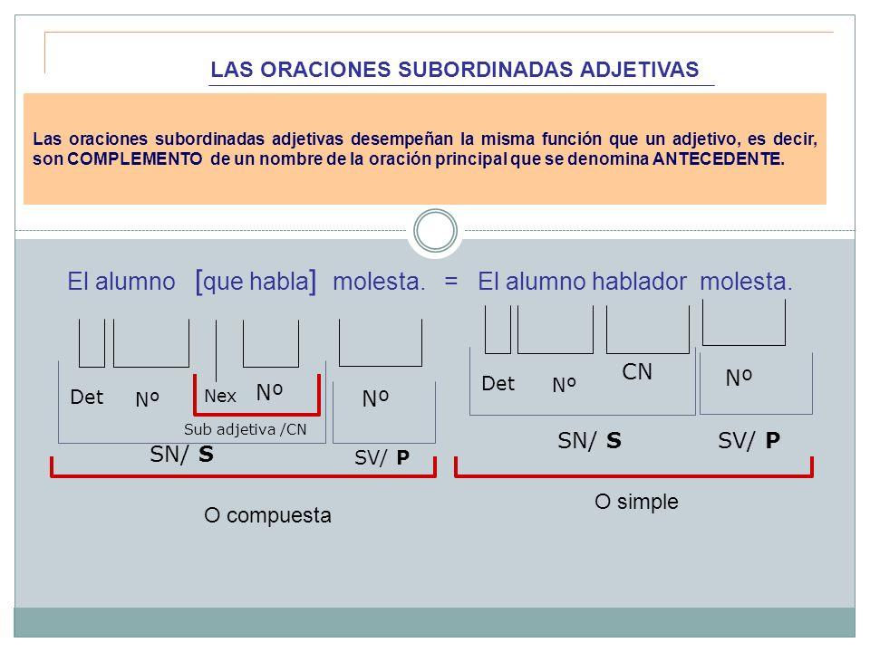 2.NEXOS QUE INTRODUCEN LAS SUBORDINADAS ADJETIVAS 2.1.