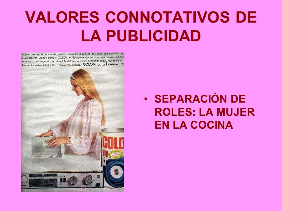 VALORES CONNOTATIVOS DE LA PUBLICIDAD SEPARACIÓN DE ROLES: LA MUJER EN LA COCINA