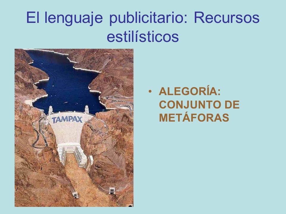 El lenguaje publicitario: Recursos estilísticos ALEGORÍA: CONJUNTO DE METÁFORAS