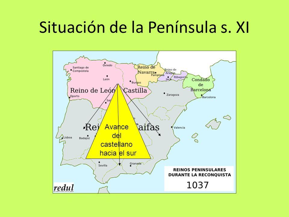Situación de la Península s. XI Avance del castellano hacia el sur