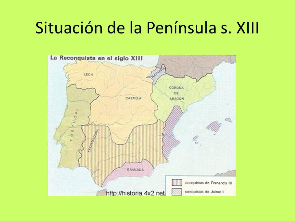 Situación de la Península s. XIII
