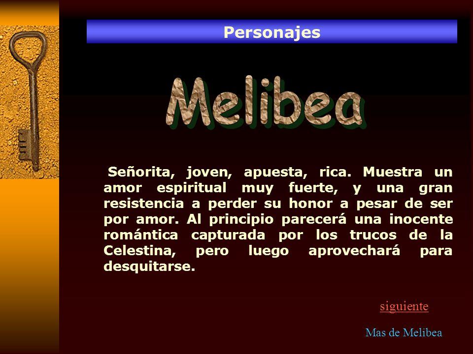 Resumen de los 21 actos Acto XVI Los padres de Melibea piensan en concertarle un matrimonio viendo la proximidad de su muerte, ésta que ha oído la conversación muestra la disconformidad y rebela a Lucrecia su gran amor por Calisto.