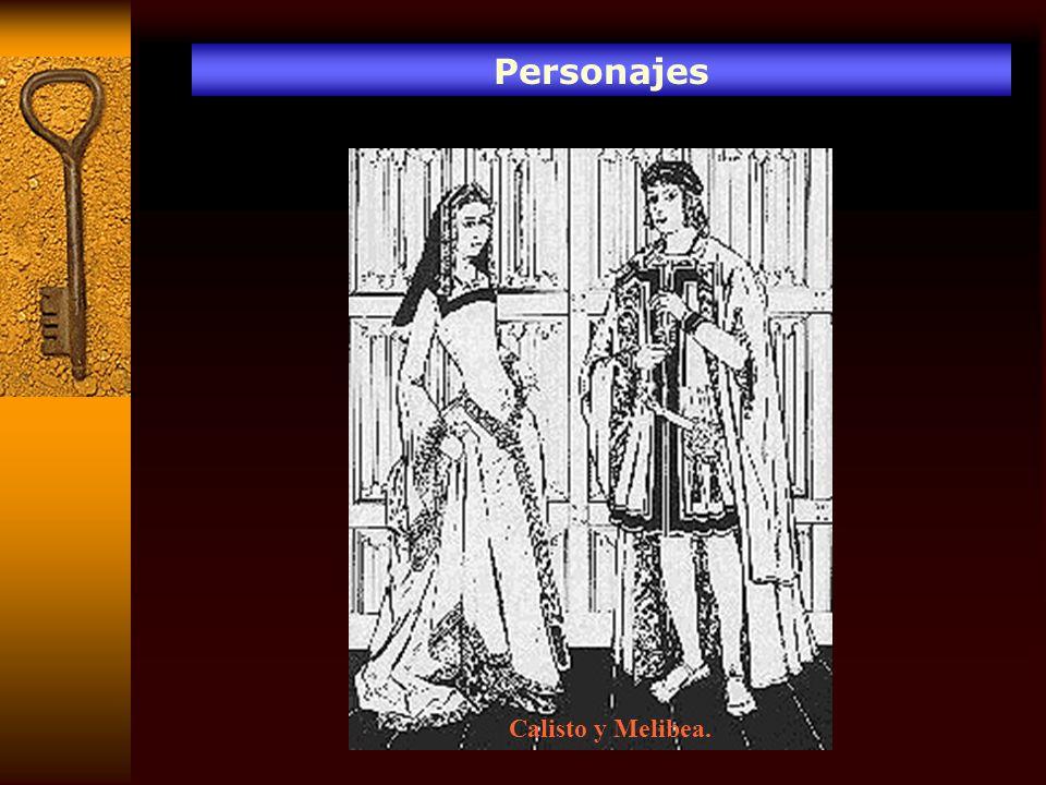 Personajes Calisto y Melibea.