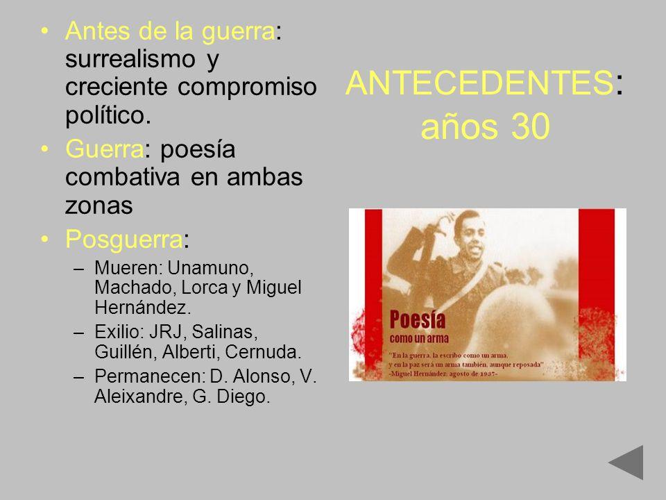 Guerra: poesía combativa en ambas zonas Las tierras, las tierras, las tierras de España, las grandes, las solas, desiertas llanuras.