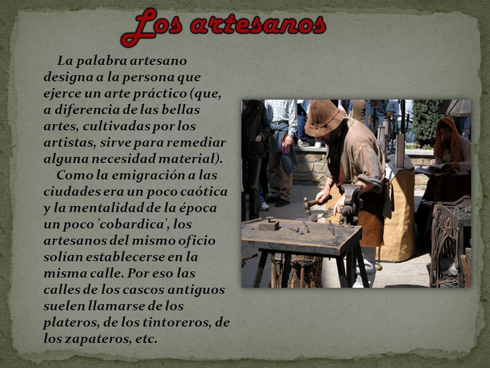 Los excedentes agrícolas de abadías y conventos Nueva división del trabajo Los campesinos producen m.p.