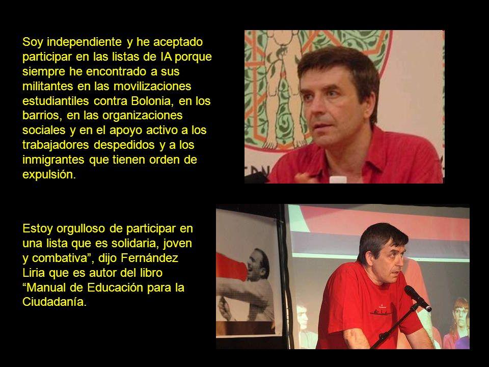 Por último, también participó Carlos Fernández Liria, profesor de la universidad Complutense de Madrid y una de las principales referencias activistas e intelectuales en la lucha anti-Bolonia.Carlos Fernández Liria No se trata de refundir el capitalismo.
