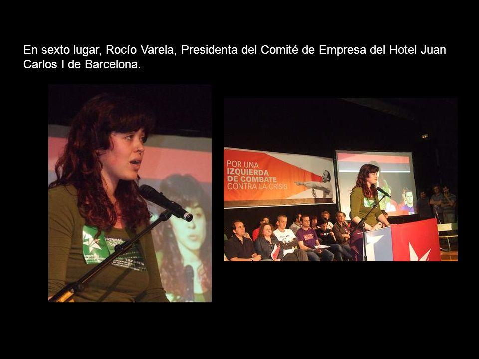 En quinto lugar va Alejandro García, joven sindicalista de 27 años de Comisiones Obreras en Mc Donalds de Granada.