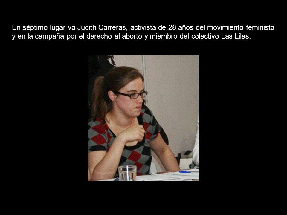 En sexto lugar, Rocío Varela, Presidenta del Comité de Empresa del Hotel Juan Carlos I de Barcelona.