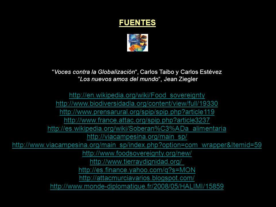 ARTÍCULOS RELACIONADOS MERCADOS ALIMENTARIOS, ARMA DE DESTRUCCIÓN MASIVA II MERCADOS ALIMENTARIOS, ARMA DE DESTRUCCIÓN MASIVA I AFRICA: RUBOR DE OLVIDO Y SILENCIO I AFRICA: RUBOR DE OLVIDO Y SILENCIO II LOS PLANES DE LA OLIGARQUIA EL INFORME KISSINGER INFORME ROCKEFELLER SOBRE POBLACION INFORME GLOBAL 2000 PARA EL PRESIDENTE
