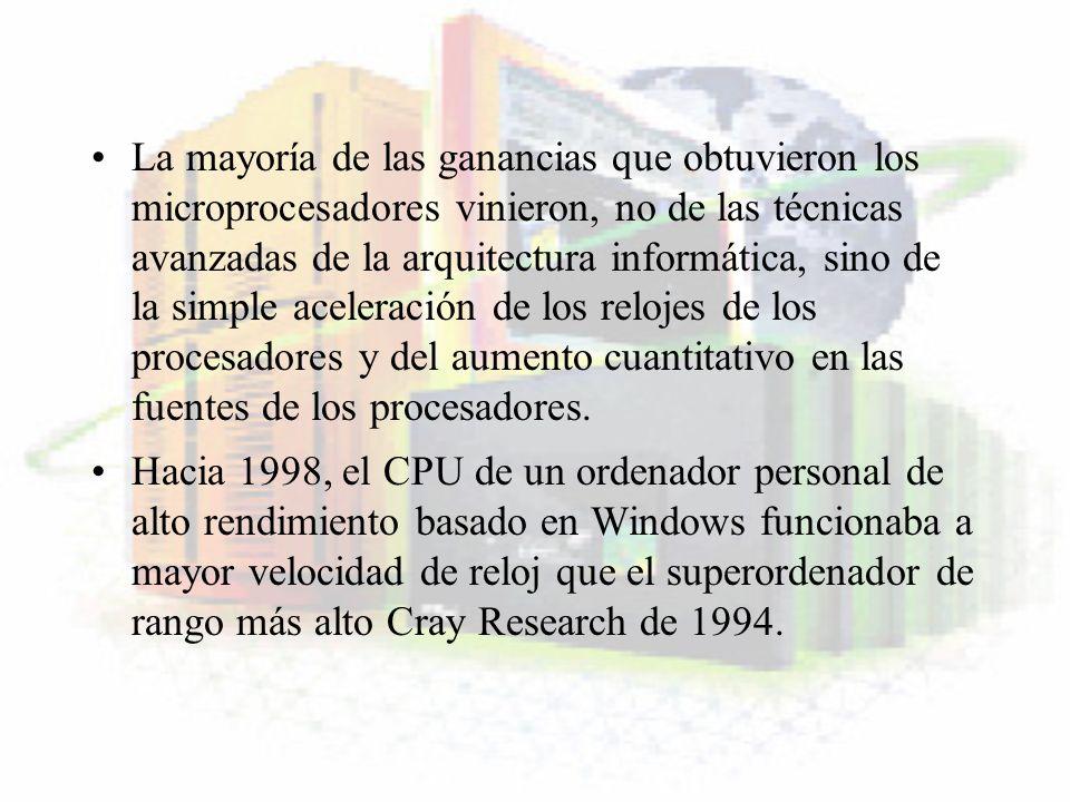 CRAY (70s) El Cray 1 fue el primer supercomputador moderno .