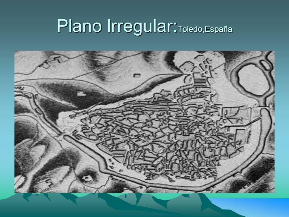 Plano Irregular: Toledo,España