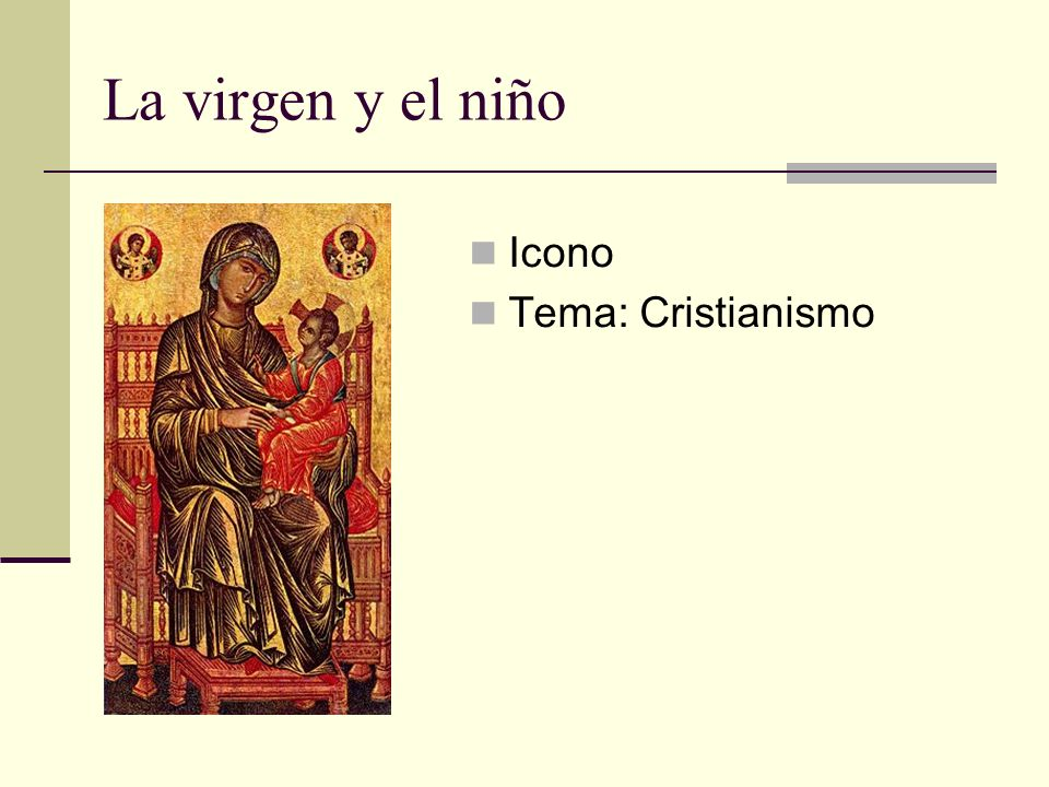 La virgen y el niño Icono Tema: Cristianismo