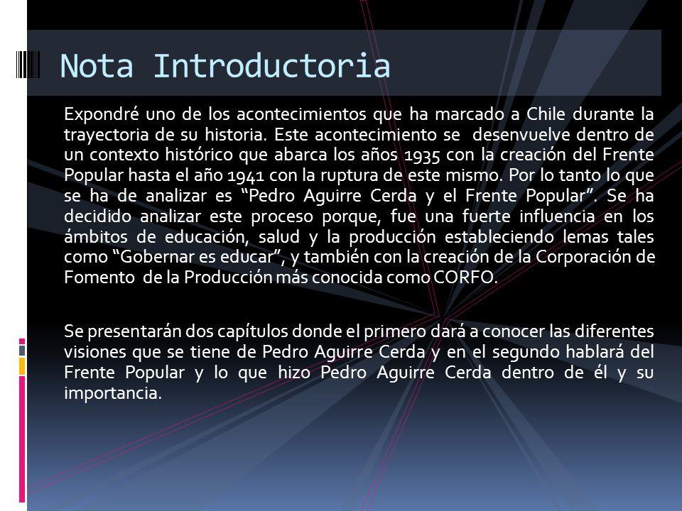 Visiones: El político que mejor representó el espíritu del radicalismo de la primera mitad del siglo XX en Chile.
