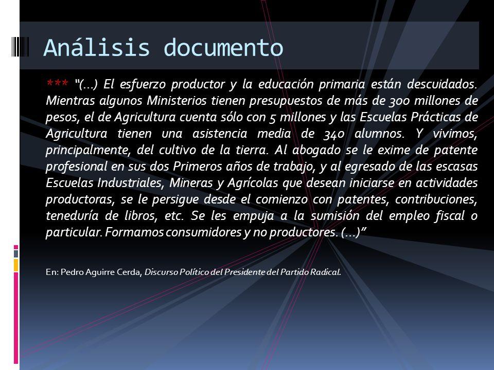 Importancia de Aguirre Cerda: Impulsor de la Ley de Instrucción Primaria Gobernar es educar Mejora el nivel económico CORFO y Corporación de Reconstrucción y Auxilio.
