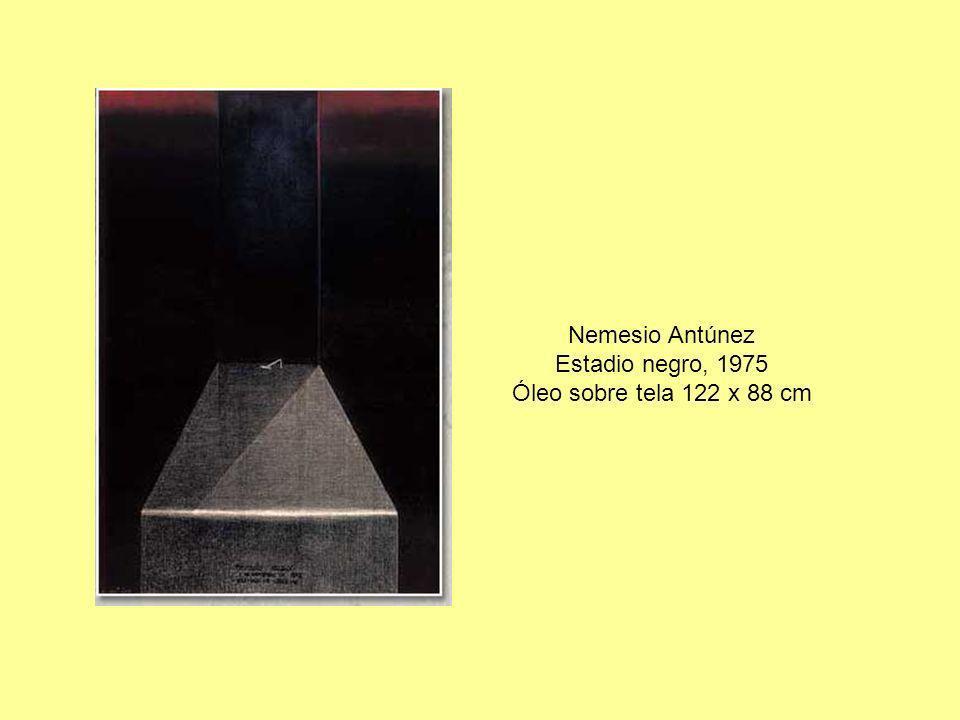 Nemesio Antúnez Estadio negro, 1975 Óleo sobre tela 122 x 88 cm