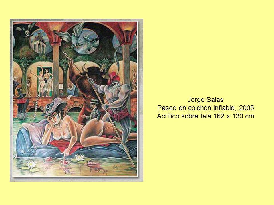Jorge Salas Paseo en colchón inflable, 2005 Acrílico sobre tela 162 x 130 cm