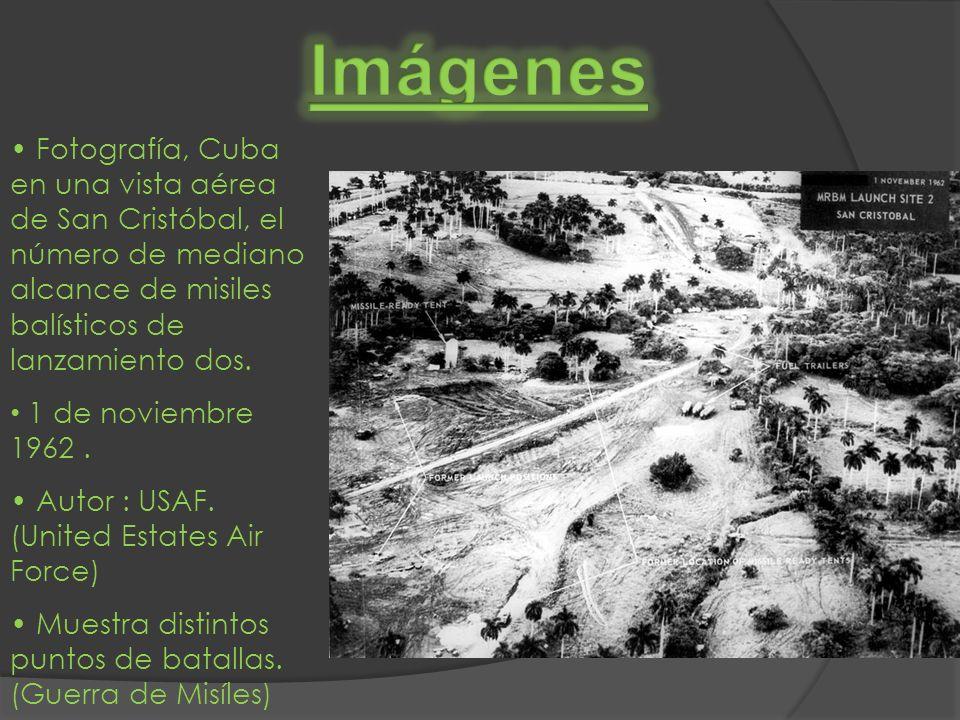 Fotografía, Cuba en una vista aérea de San Cristóbal, el número de mediano alcance de misiles balísticos de lanzamiento dos. 1 de noviembre 1962. Auto