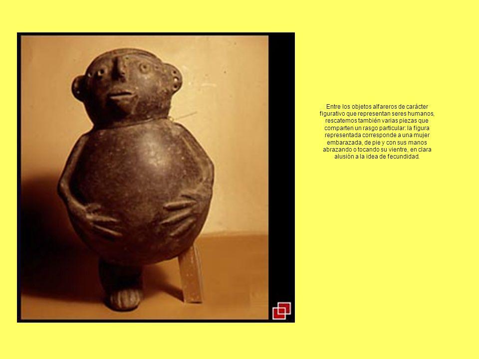Entre los objetos alfareros de carácter figurativo que representan seres humanos, rescatemos también varias piezas que comparten un rasgo particular: