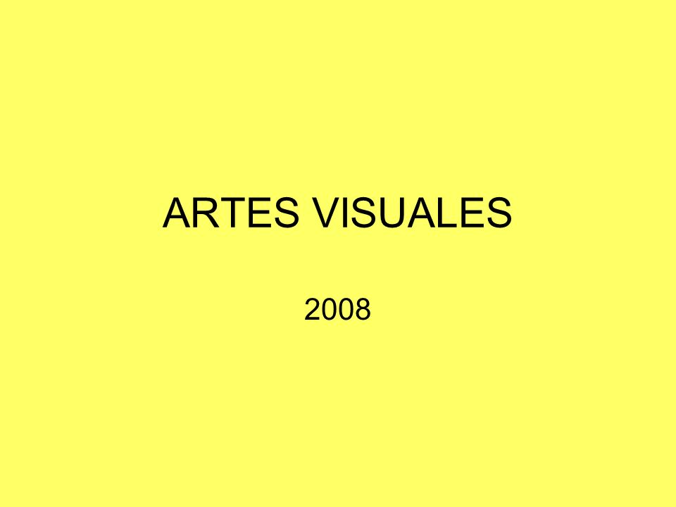 ARTES VISUALES 2008
