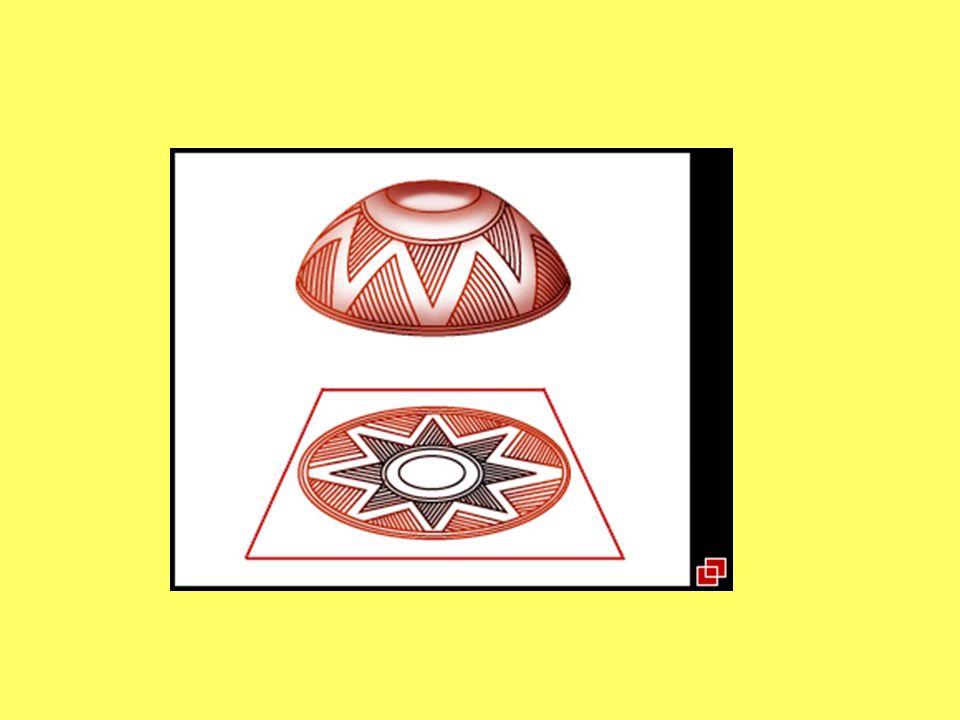 La base consiste en una hendidura exterior cóncava hecha con la presión de la uña del dedo pulgar aplicado en el centro geométrico y de equilibrio.