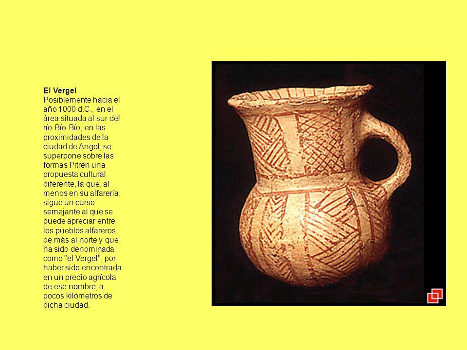El Vergel Posiblemente hacia el año 1000 d.C., en el área situada al sur del río Bío Bío, en las proximidades de la ciudad de Angol, se superpone sobr