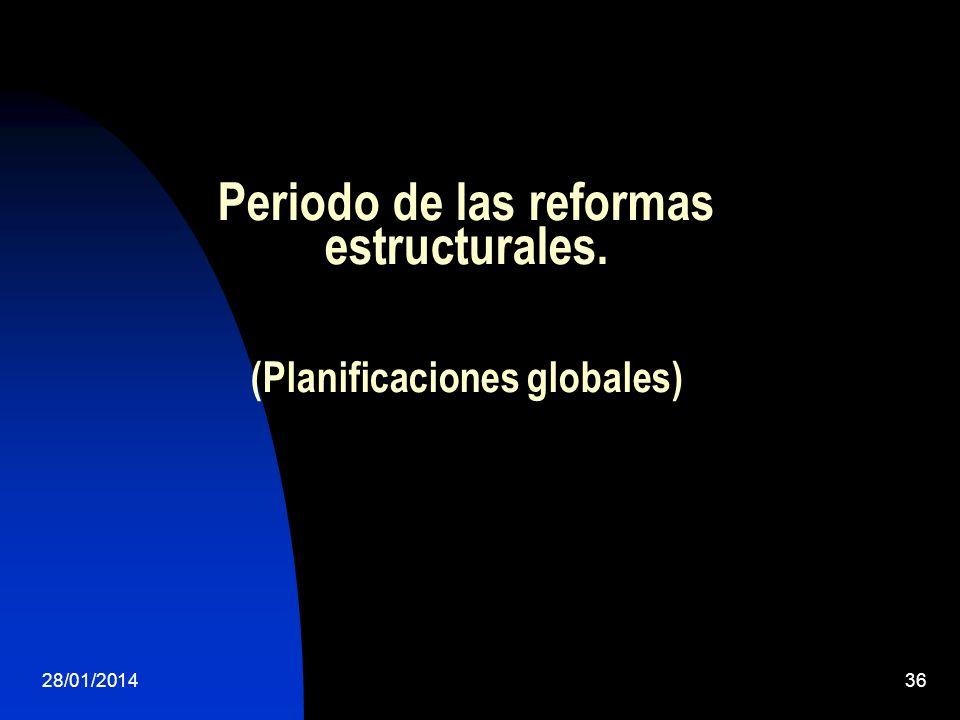Periodo de las reformas estructurales. (Planificaciones globales) 28/01/201436