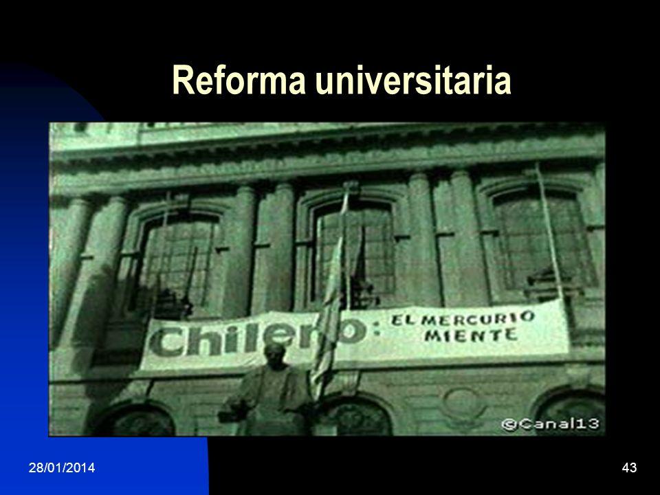 Reforma universitaria 28/01/201443