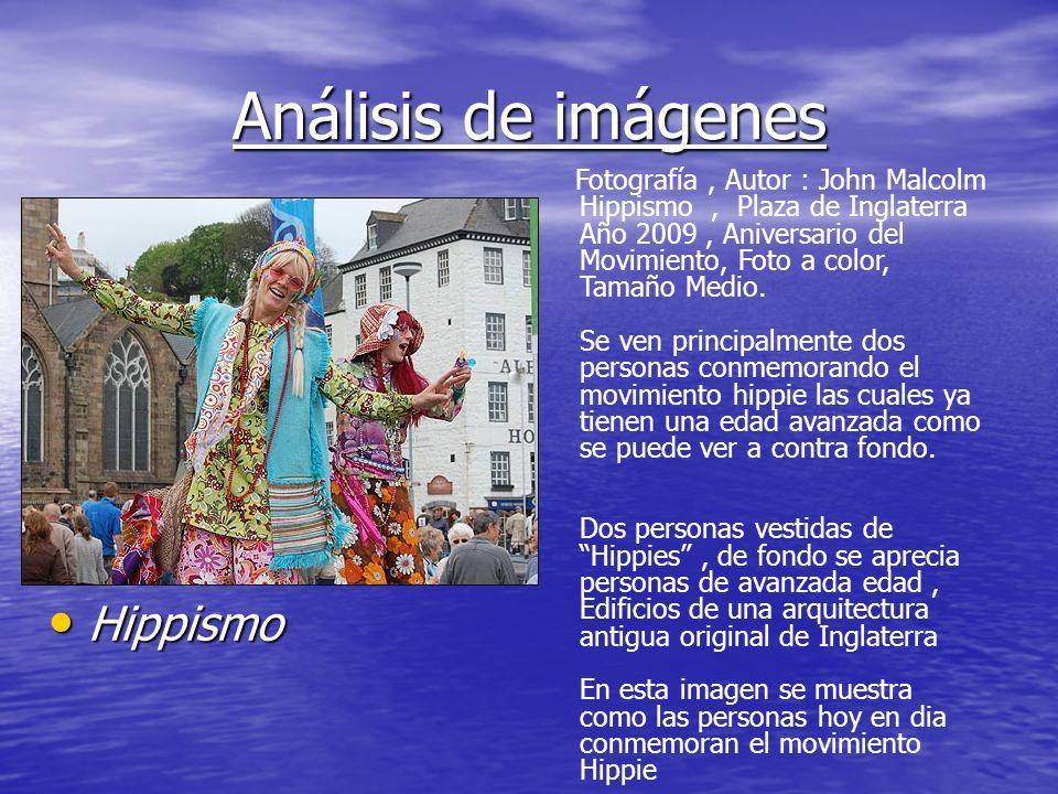 Análisis de imágenes Hippismo Hippismo Fotografía, Autor : John Malcolm Hippismo, Plaza de Inglaterra Año 2009, Aniversario del Movimiento, Foto a col