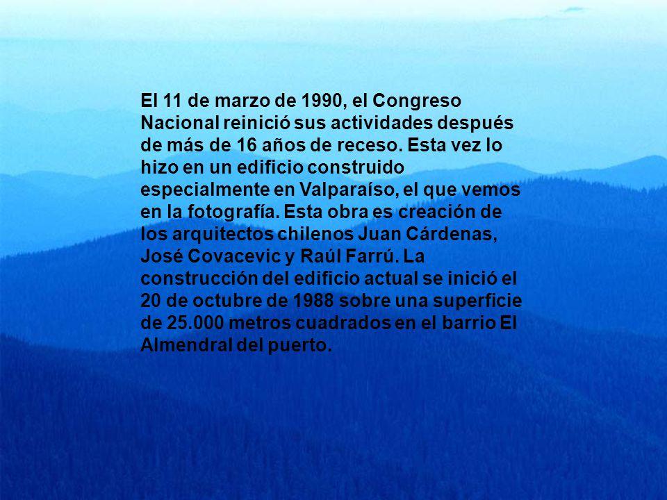El 11 de marzo de 1990, el Congreso Nacional reinició sus actividades después de más de 16 años de receso.