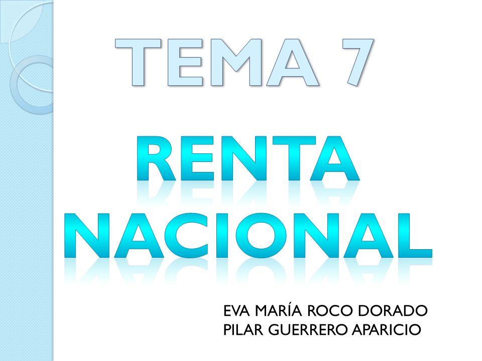 RENTA Y RIQUEZA CONTABILIDAD NACIONAL Renta: pago que los agentes económicos perciben en función de su contribución a la producción de bienes y servicios.