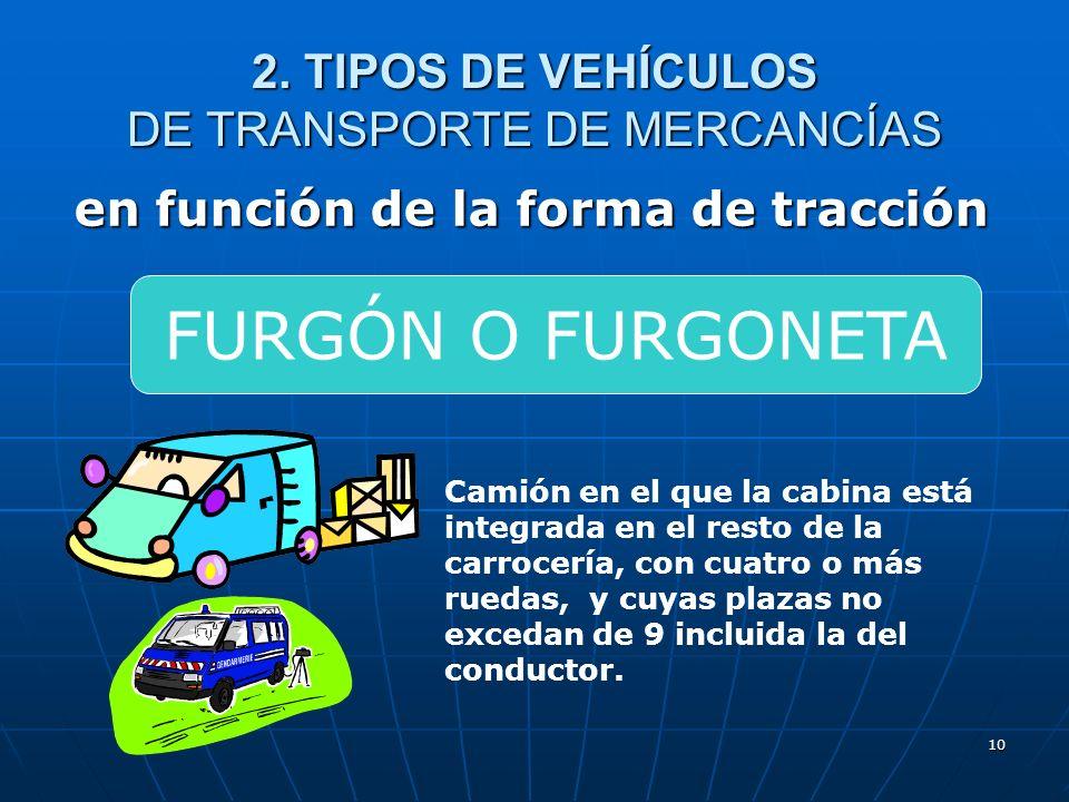 9 en función de la forma de tracción Automóvil rígido construido para el transporte de cosas, con cuatro o más ruedas, cuya cabina no está integrada e