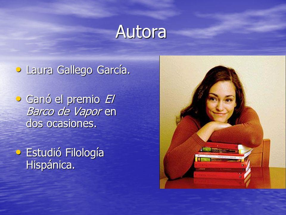 Autora Autora Laura Gallego García. Laura Gallego García. Ganó el premio El Barco de Vapor en dos ocasiones. Ganó el premio El Barco de Vapor en dos o