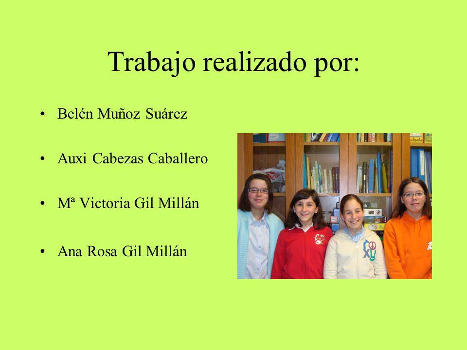 Trabajo realizado por: Belén Muñoz Suárez Auxi Cabezas Caballero Mª Victoria Gil Millán Ana Rosa Gil Millán
