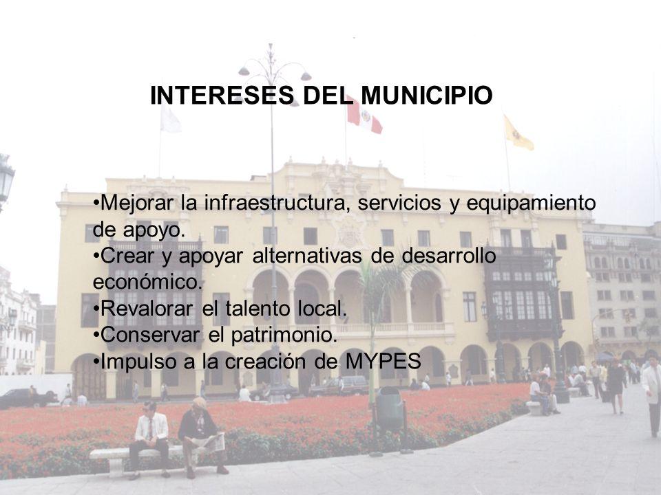 Mejorar la infraestructura, servicios y equipamiento de apoyo. Crear y apoyar alternativas de desarrollo económico. Revalorar el talento local. Conser