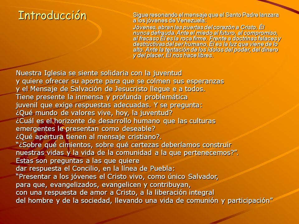 1.VER: ANÁLISIS PASTORAL DE LA REALIDAD Venezuela es mayoritariamente joven.