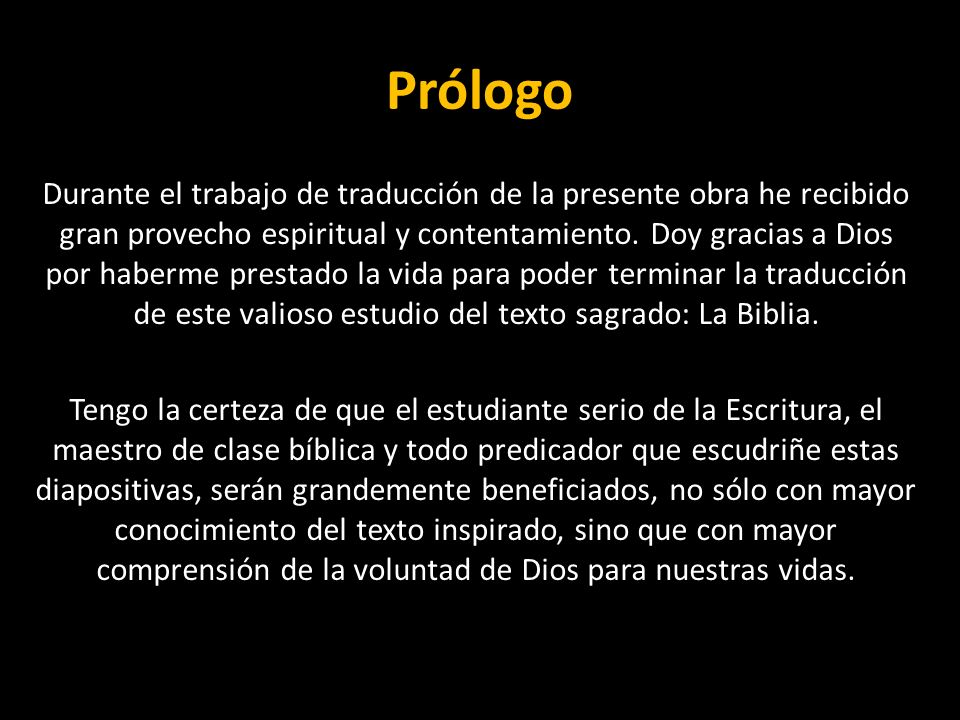 Prólogo Durante el trabajo de traducción de la presente obra he recibido gran provecho espiritual y contentamiento. Doy gracias a Dios por haberme pre