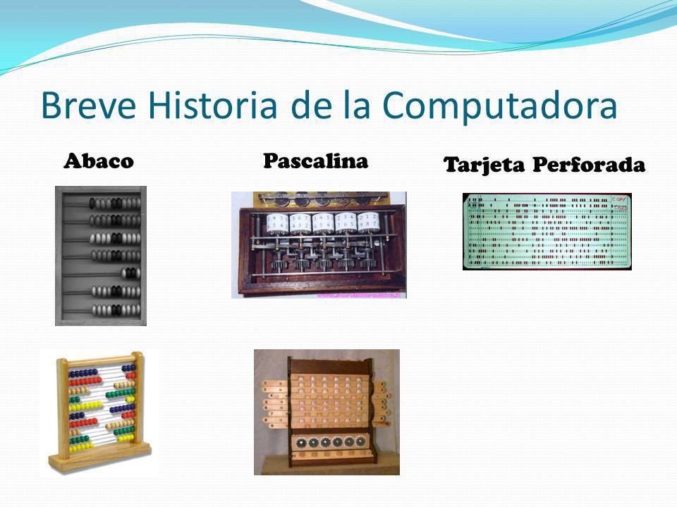 Breve Historia de la Computadora AbacoPascalina Tarjeta Perforada
