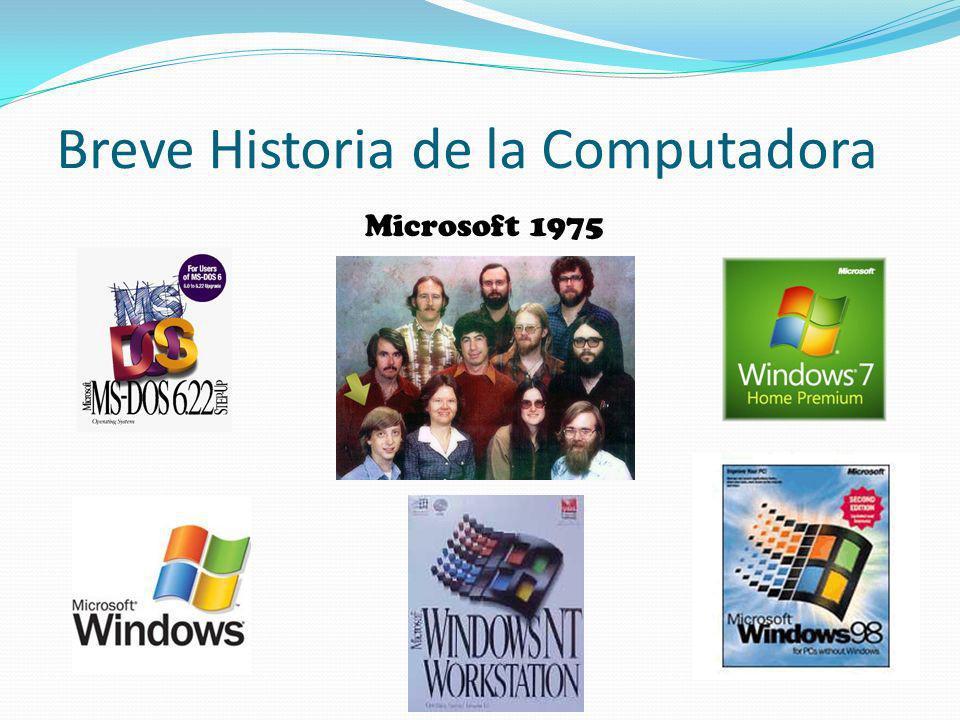 Breve Historia de la Computadora Microsoft 1975