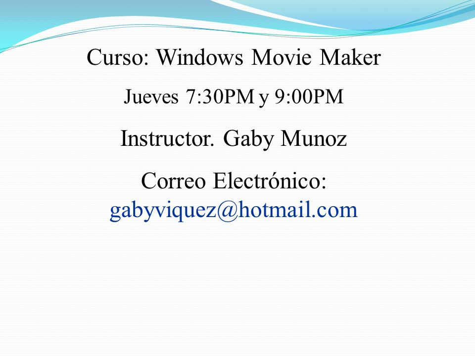 Windows Movie Maker Parte 1