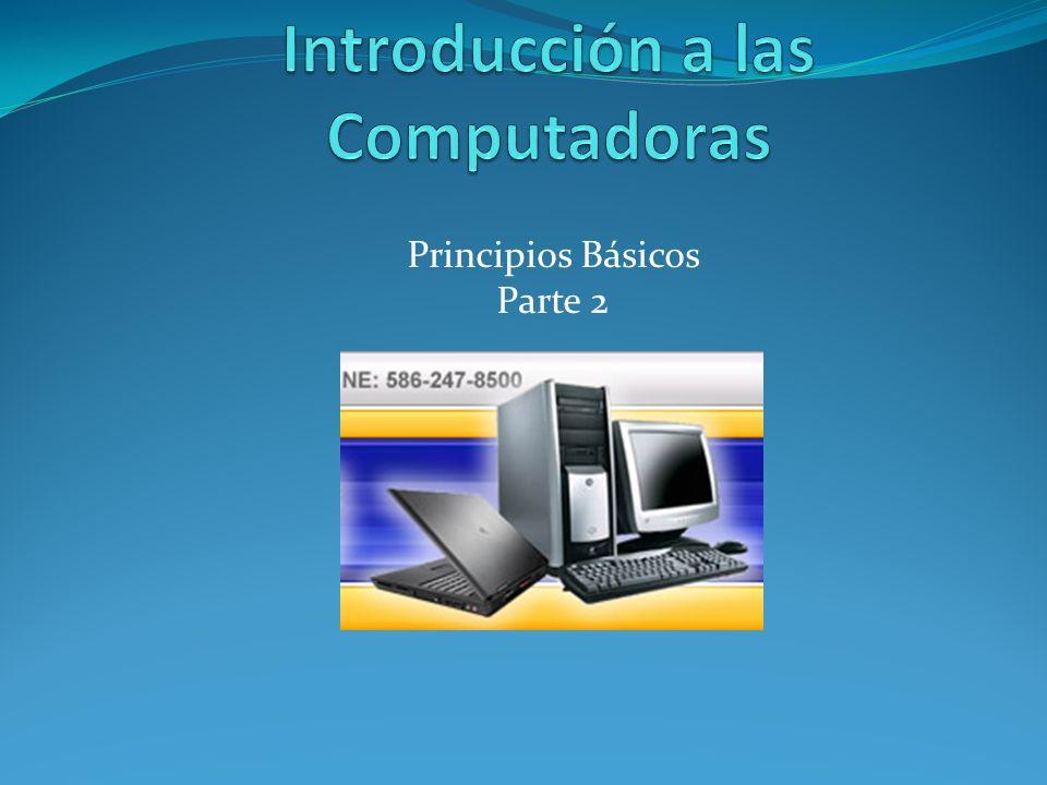Objetivos Demostrar lo que es un programa o Software Demostrar el proceso correcto de encendido y apagado de la computadora.