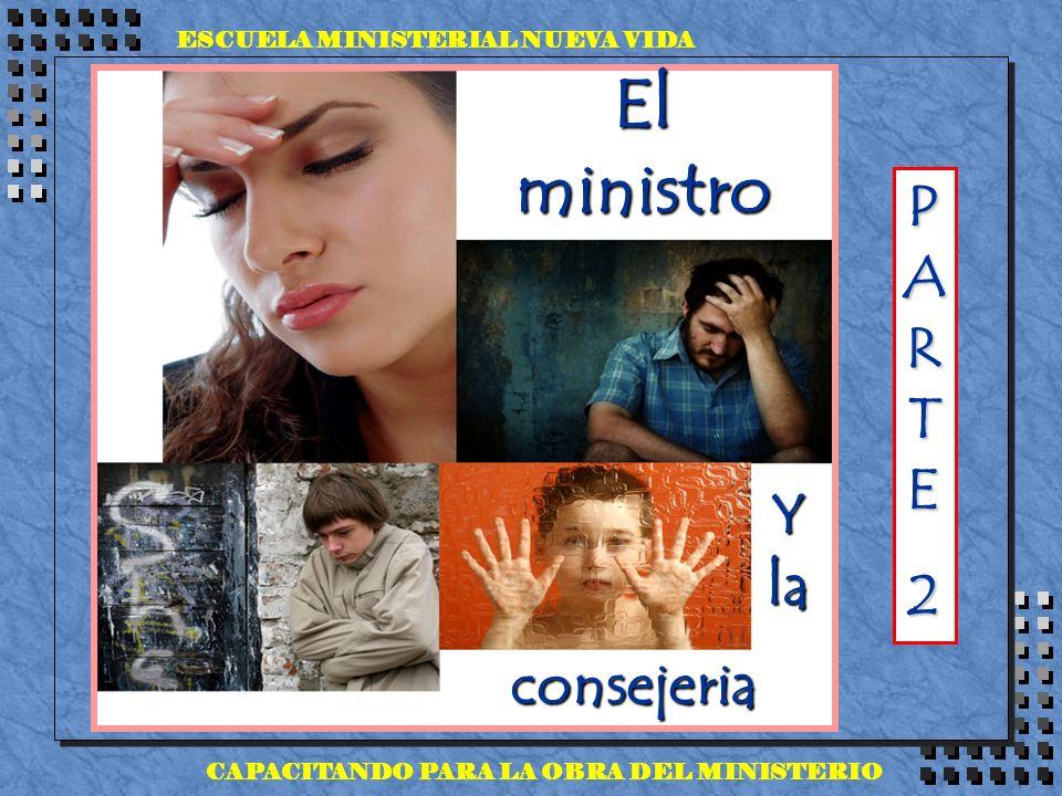 ESCUELA MINISTERIAL NUEVA VIDA CAPACITANDO PARA LA OBRA DEL MINISTERIO El ministro Y la consejeria PARTEPARTE22PARTEPARTE222