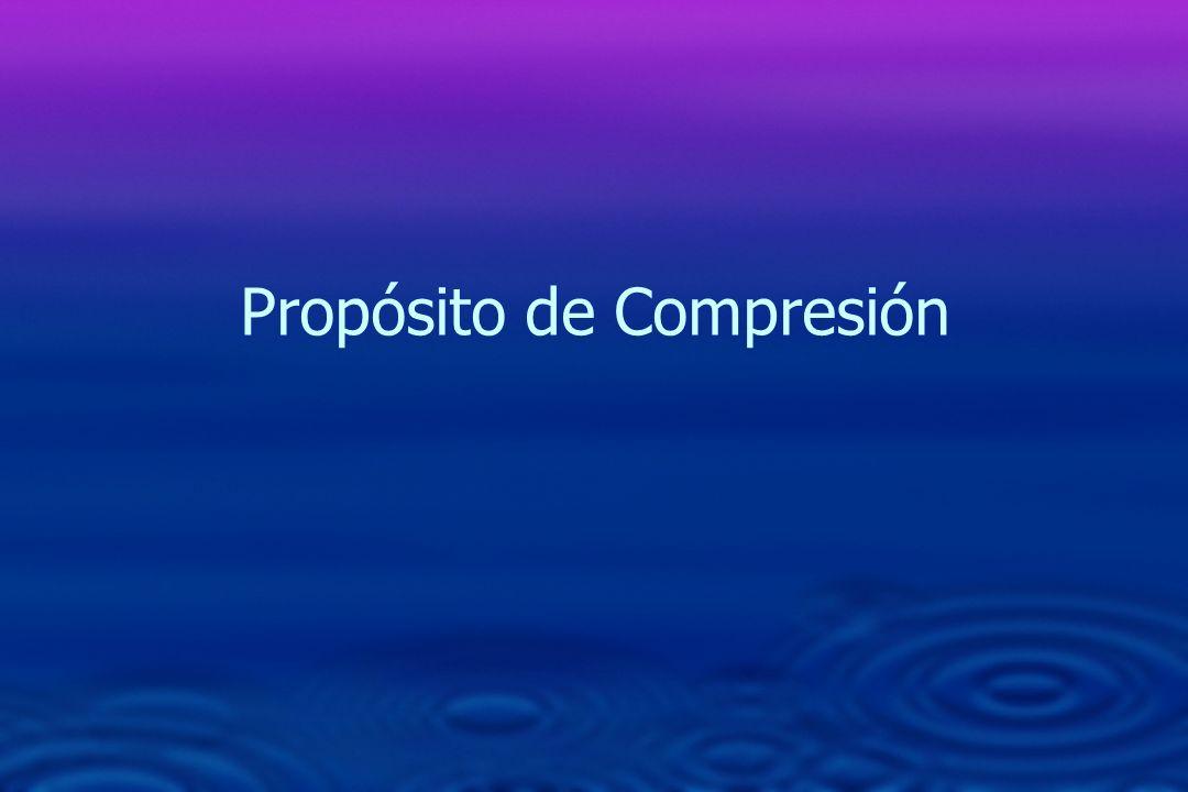 Propósito de Compresión