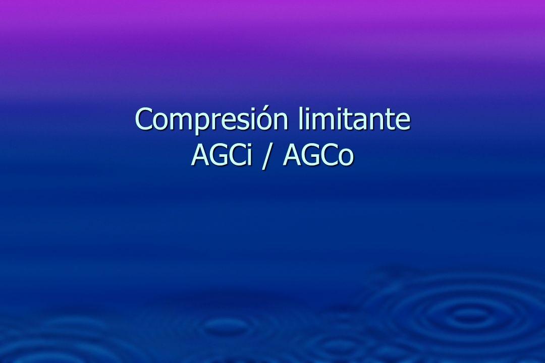 Compresión limitante AGCi / AGCo
