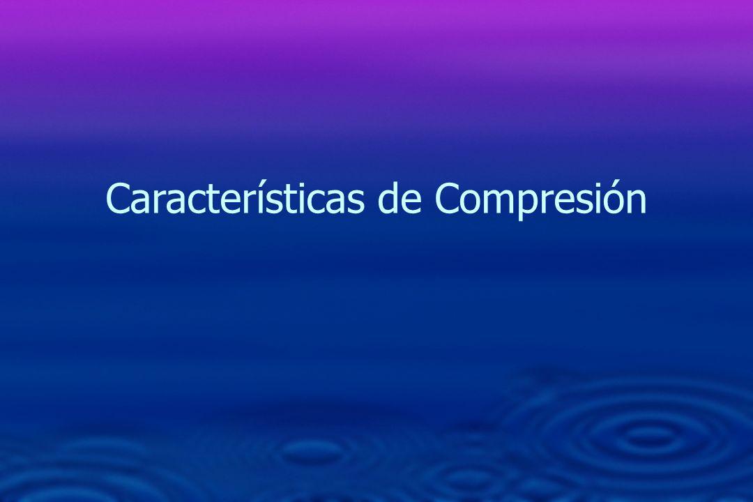 Características de Compresión