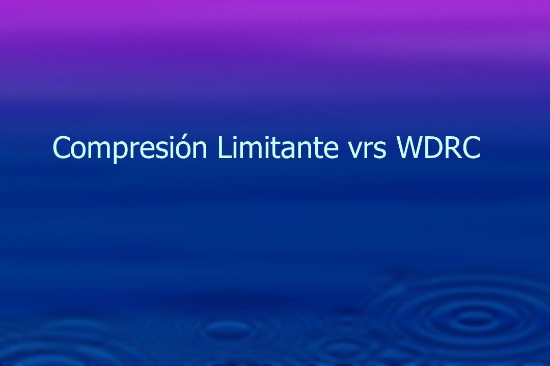Compresión Limitante vrs WDRC