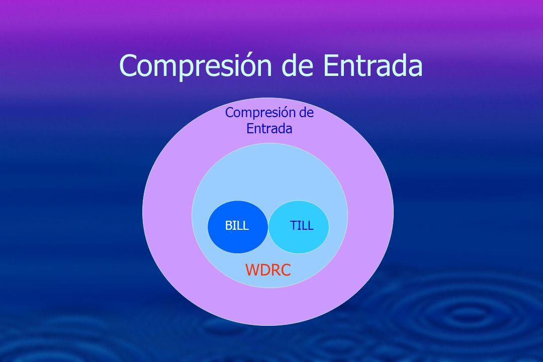 Compresión de Entrada BILLTILL WDRC