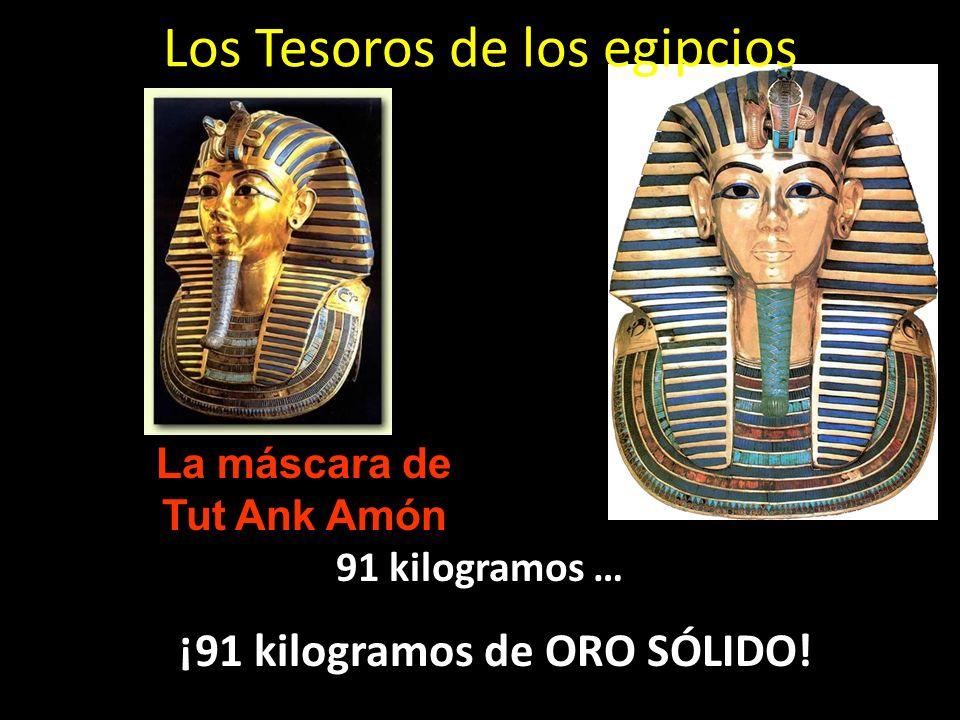 Los Tesoros de los egipcios 91 kilogramos … ¡91 kilogramos de ORO SÓLIDO! La máscara de Tut Ank Amón